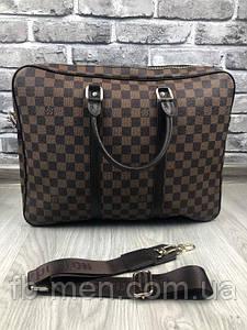 Сумка в стиле Louis Vuitton коричневая   Сумка для документов повседневная легкая Луи Виттон