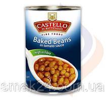 Фасоль запеченная в соусе Castello Baked Beans 425г Италия