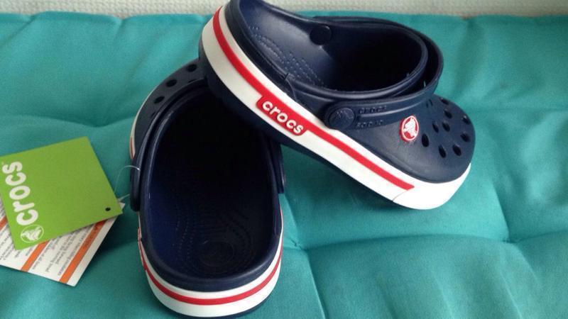 Детские кроксы Crocs Crocband 2.5 синие 33 разм. J2