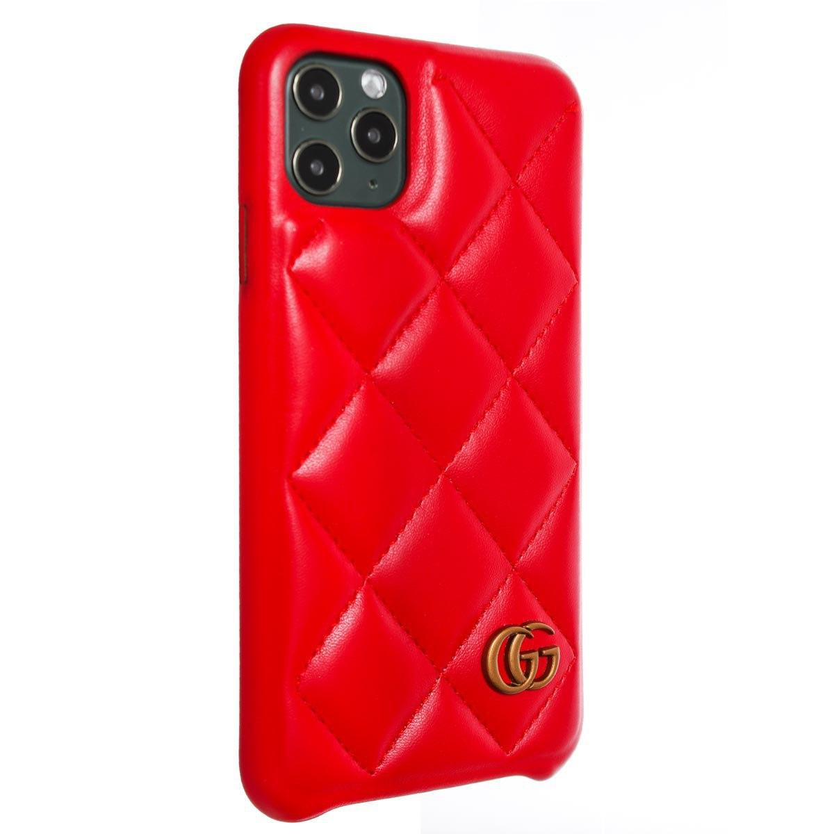 Чехол Leather Gucci Logo накладка iPhone 11, 11 Pro, 11 Pro Max кожаная панель