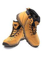 Ботинки зимние мужские 40р (стелька 27см). Теплые. Прошитая подошва. Желтые