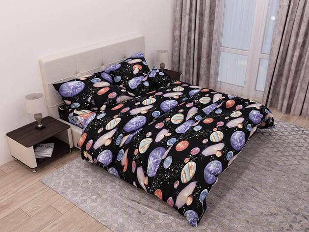 Двуспальный комплект постельного белья евро 200*220 хлопок  (13482) TM KRISPOL Украина, фото 2