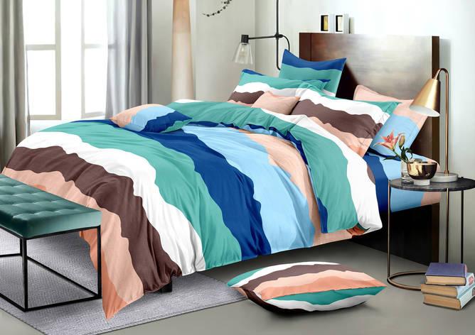 Двуспальный комплект постельного белья евро 200*220 хлопок  (13483) TM KRISPOL Украина, фото 2