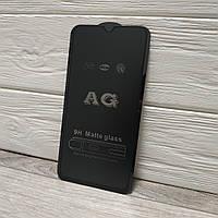 Матовое защитное 5D стекло ПОЛНЫЙ КЛЕЙ для Xiaomi Redmi Note 8 Pro , черное