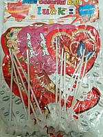 Надувное Сердце на палочке