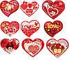 Валентинка 27-00 УКР 18,5х16см обьем V одинарка сердце +апликация
