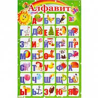 Плакат картонный  «АЛФАВИТ РУССКИЙ»