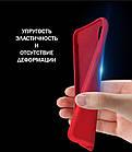 Силиконовый чехол Xiaomi Redmi 7A с микрофиброй Liquid Silicon Case Красный, фото 2
