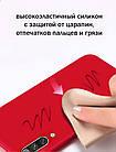 Силиконовый чехол Xiaomi Redmi 7A с микрофиброй Liquid Silicon Case Красный, фото 3