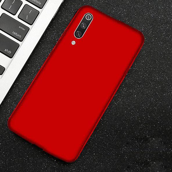 Силиконовый чехол Xiaomi Redmi 7A с микрофиброй Liquid Silicon Case Красный