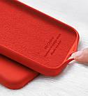 Силиконовый чехол Xiaomi Redmi 7A с микрофиброй Liquid Silicon Case Красный, фото 4