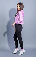 Женский спортивный костюм фитнес тройка (фиолетовый)