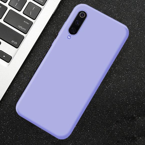 Силиконовый чехол Xiaomi Redmi 7A с микрофиброй Liquid Silicon Case Фиолетовый