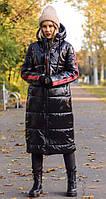 Женское весеннее теплое пальто куртка плащевка синтепон черное с красным черное с желтым 42-44,44-46, 46-48