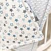 Плед Minky Звезды серо-голубые голубой, фото 3