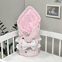 Плед Minky Коты в облаках розовый