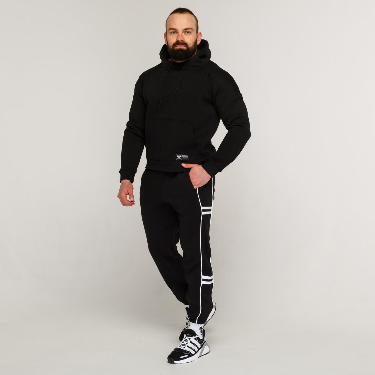 Зимние спортивные штаны мужские чёрные от бренда ТУР модель Сектор 2.0 (Sector)