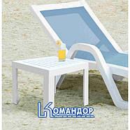 Столик для шезлонга Papatya SUDA 01 белый, фото 4