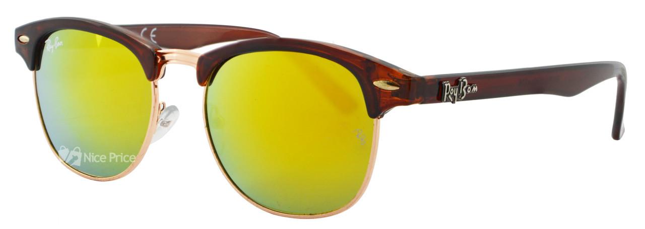 Солнцезащитные очки Ray Ban Clubmaster 5116 Brown/Yellow