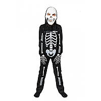 Детский новогодний костюм Скелета 5,6,7,8 лет Карнавальный маскарадный костюм для мальчиков