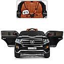 Детский электромобиль Джип M 3984 EBLRS-2, Toyota, колеса EVA, кожаное сиденье, Автопокраска, черный лак, фото 7