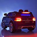Детский электромобиль Джип M 3984 EBLRS-2, Toyota, колеса EVA, кожаное сиденье, Автопокраска, черный лак, фото 10