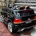 Детский электромобиль Джип M 3984 EBLRS-2, Toyota, колеса EVA, кожаное сиденье, Автопокраска, черный лак, фото 2