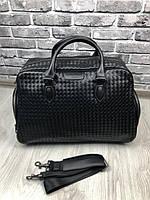 Дорожная сумка Bottega Veneta   удобная черная дорожная сумка Боттега Венета   Дорожная сумка черный чемодан