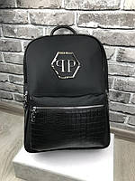 Рюкзак Philipp Plein   Стильный рюкзак Филипп Плейн   Черный модный рюкзак Philipp Plein