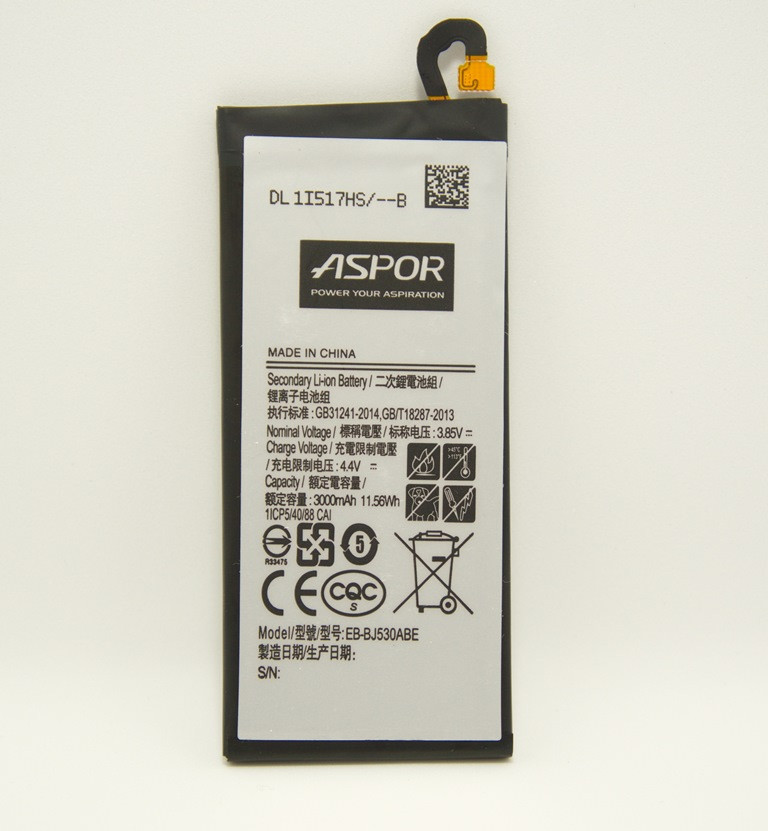 Батарея Aspor EB-BJ530ABE для Samsung Galaxy J5 2017 J530, 3000маг