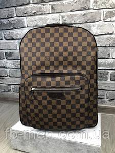 Рюкзак  Louis Vuitton   Рюкзак коричневая шашка Луи Виттон   Кожаный рюкзак Луи Виттон   Повседневный рюкзак