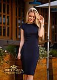 """Женское элегантное платье миди с коротким рукавом, платье-футляр,трикотажное платье """"Sofia"""" I БАТАЛ, фото 4"""