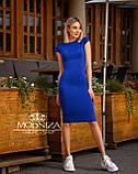 """Женское элегантное платье миди с коротким рукавом, платье-футляр,трикотажное платье """"Sofia"""" I БАТАЛ, фото 5"""