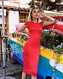 """Женское элегантное платье миди с коротким рукавом, платье-футляр,трикотажное платье """"Sofia"""" I БАТАЛ, фото 6"""