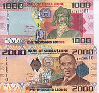 Сьерра-Леоне набор из 4 банкнот 2010-2013 UNC