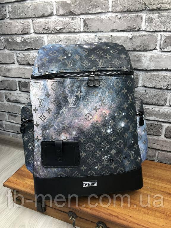 Кожаный рюкзак большой Луи Виттон | Луи Виттон повседневный кожаный вместительный рюкзак портфель
