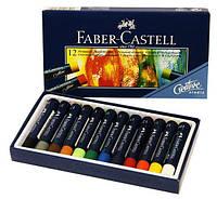 Мел пастель масляный 12 цветов, профессиональный, Faber-Castell