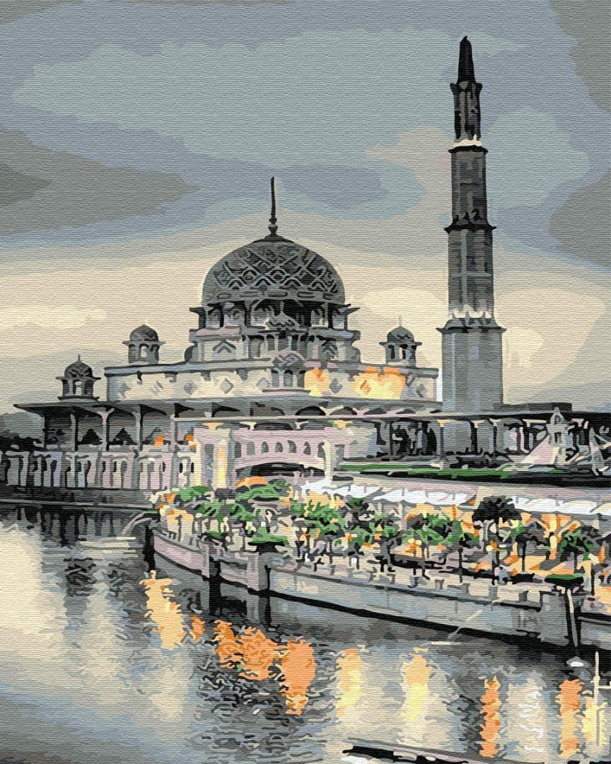 Картина по Номерам 40x50 см. Мечеть на закате BrushMe