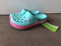 Кроксы детские Crocs Crocband 2.5 бирюзовые 33 разм. J2, фото 1