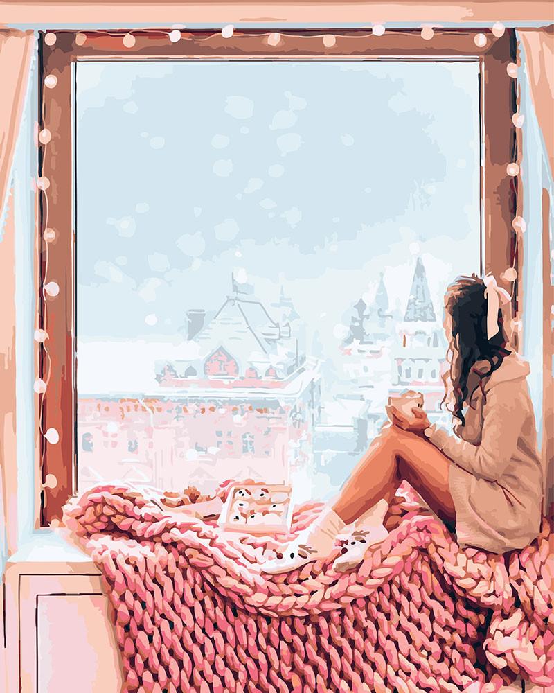 Картина по Номерам 40x50 см. А за окном зима! BrushMe