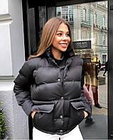 Женская весенняя короткая куртка плащевка черный красный бежевый белый голубой фреза 42 44 46