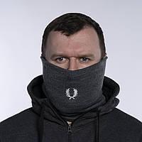 Бафф чоловічий зимовий теплий сірий якісний снуд горловик Фред Перрі, фото 1
