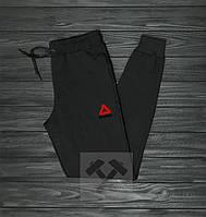Мужские спортивные штаны, чоловічі спортивні штани Reebok (Черная надпись),Реплика