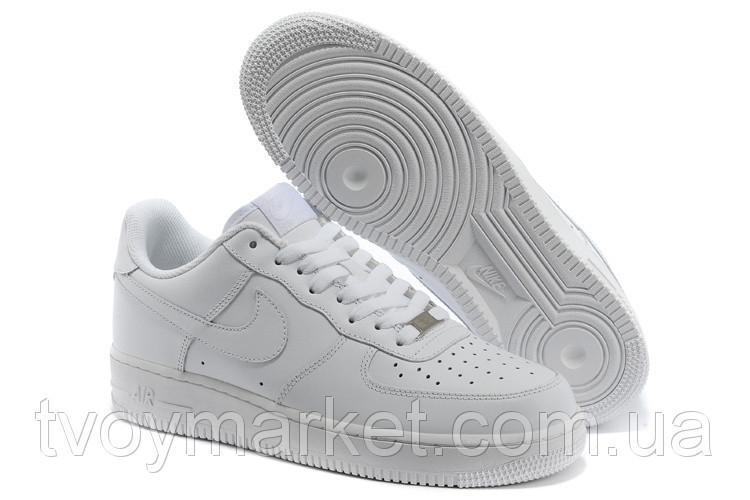 Кроссовки белые кожаные Nike Air Force 1 low
