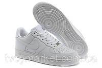 Кроссовки белые кожаные Nike Air Force 1 low , фото 1