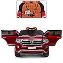 Детский электромобиль Джип M 3984 EBLRS-3, Toyota, колеса EVA, кожаное сиденье, Автопокраска, красныйлак, фото 7