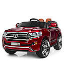 Детский электромобиль Джип M 3984 EBLRS-3, Toyota, колеса EVA, кожаное сиденье, Автопокраска, красныйлак, фото 5