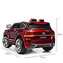Детский электромобиль Джип M 3984 EBLRS-3, Toyota, колеса EVA, кожаное сиденье, Автопокраска, красныйлак, фото 9