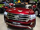 Детский электромобиль Джип M 3984 EBLRS-3, Toyota, колеса EVA, кожаное сиденье, Автопокраска, красныйлак, фото 3