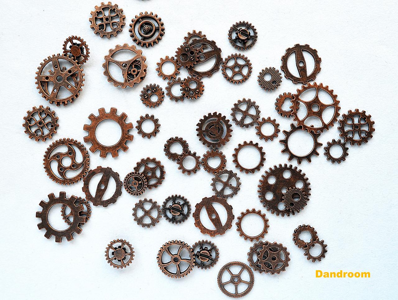 Набор металлических шестеренок, Бронза, 50 г